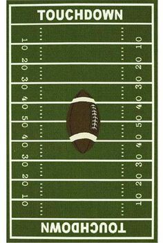 Like this rug for football room.....Maybe.