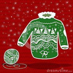 https://thumbs.dreamstime.com/x/grnen-sie-gestrickte-weihnachtsstrickjacke-und-einen-ball-des-garns-36190801.jpg