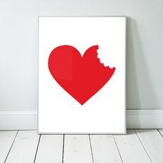 Plakat. serce | ilustracja | interior design | nursery poster | scandinavian style | minimal | illustration | graphic design
