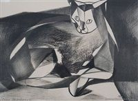 Cat Resting by Louise Henderson