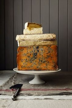 cheese...on a cake stand :) add walnuts and walnut shells scattered at base for an autumn feel