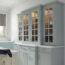 Edwardian Painted Light Blue Traditional Kitchen Inspiration, China Cabinet, Free Design, The Help, Light Blue, Kitchen Cabinets, Furniture, Home Decor, Decoration Home