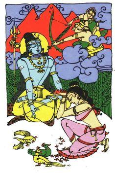 Manmadha dhahanam Bapu painting Indian Folk Art, Indian Artist, Base, Indian Paintings, Old Art, Gods And Goddesses, Fantasy Artwork, Figure Drawing, Cute Drawings