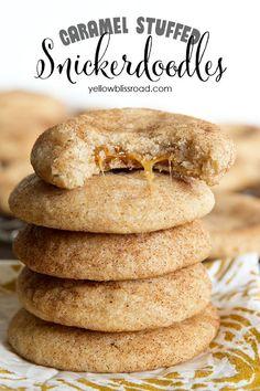 Caramel Stuffed Snickerdoodle Cookies
