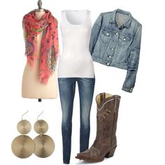 Spring Cowgirl, created by lizzie-boyette on Polyvore