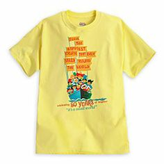 Disney ''it's a small world'' Attraction Poster Tee for Adults - 50th Anniversary - Limited Availability timeless attraction which debuted April 22, 1964 at the New York World's Fair. Available for a limited time only.