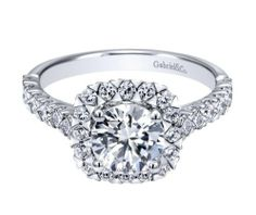 Impossible to deny a Gabriel & Co. Engagement Ring.