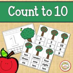 Count 1 to 10 - How Many Apples on the Tree Counting Activity Package School Reviews, Learn To Count, Counting Activities, Elementary Math, Learning Resources, Teaching Math, Math Lessons, Math Centers, Second Grade