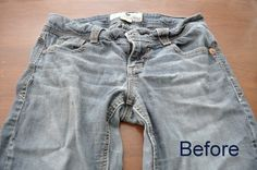 A Cheap Dye Job.dye your faded jeans. from the comment section someone wrote.When I worked at Outb Faded Jeans, Old Jeans, Dark Jeans, Diy Fashion, Fashion Outfits, Womens Fashion, Fashion Tips, Outback Steakhouse