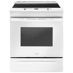 """Whirlpool 30"""" 4.8 Cu. Ft. Slide-in Smooth Top Electric Range (YWEE510S0FW) - White"""