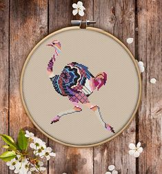 Mandala Ostrich Cross Stitch Pattern for Instant Download