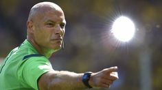 Howard Webb: made some controversial decisions in the Brazil/Chile encounter.