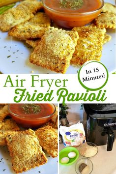 air fryer recipes: This easy air fryer recipe for Fried Ravioli is th.You can find Easy air fryer dinner recipes and more on our website. Air Fryer Recipes Potatoes, Air Fryer Oven Recipes, Air Fryer Dinner Recipes, Air Fryer Chicken Recipes, Deep Fryer Recipes, Air Fryer Recipes Appetizers, Air Fryer Recipes Vegetarian, Air Fryer Chicken Tenders, Recipe Chicken