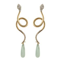 Ole Lynggaard Copenhagen | Sparkling Snake Earrings with diamonds and exclusive drops