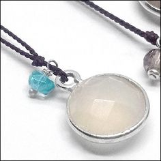 Doubles Moonstone Apatite Pendant Simple Necklace, Rainbow Moonstone, Artisan Jewelry, Jewelry Design, Pendant Necklace, Gemstones, Silk, Sterling Silver, Products
