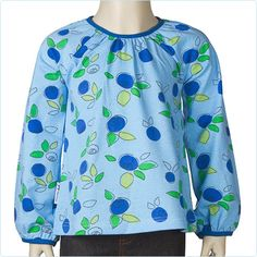 "JNY Shirt ""Blueberry"" blau - LolaKids"