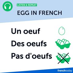 French Egg Vocabulary + A Fun French Egg Joke French Eggs, French Practice, French Grammar, Learning French, Grammar And Vocabulary, Good Jokes, French Language, Languages, Action