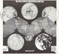 "Draft version (1984) of Cahill-Keyes ""Real-World"" Map."