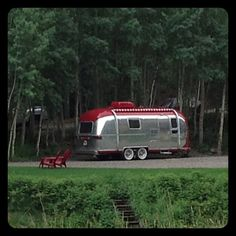 Beautiful little red airstream