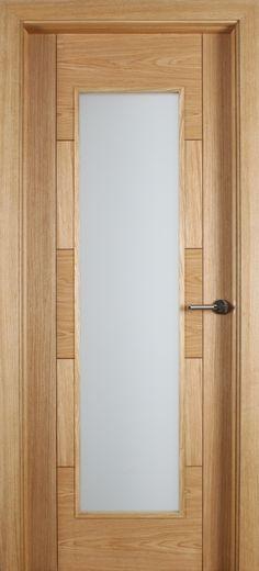 Monza 1 Lite Unglazed White Oak Door (40mm) | Internal Doors | Oak Doors