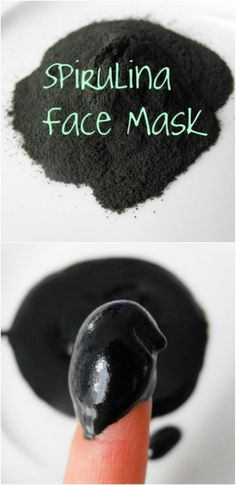 Spirulina, Castor Oil, Essential Oil - You don't have to go the spa to get a good face treatment when you can save some bills and make your very own homemade facemasks! These natural remedies will wor (Diy Face) Natural Beauty Tips, Natural Skin Care, Organic Beauty, Organic Makeup, Natural Face, Natural Oils, Spirulina, Beauty Secrets, Beauty Hacks