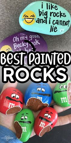14 Most Adorable Painted Rocks Ideas and Crafts For Kids & Adults Rock Painting Patterns, Rock Painting Ideas Easy, Rock Painting Designs, Painting For Kids, Painted Rock Cactus, Painted Rocks Craft, Hand Painted Rocks, Painted Pebbles, Pebble Painting