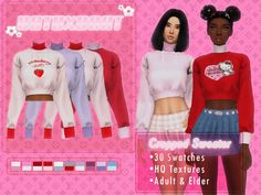 Sims 4 Mods Clothes, Sims 4 Clothing, Sims 4 Cas, Sims Cc, Sims 4 Cc Folder, Cargo Jeans, V Neck Cardigan, Sims 4 Custom Content, Cropped Sweater
