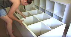 Stell vier günstige IKEA-Regale in dein Schlafzimmer und wundere dich über den freigewordenen Platz!