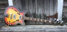 Excellent 1967 Fender Coronado Bass II Sun Burst | Reverb