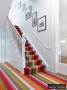 Home Depot Carpet Runners Vinyl Product Striped Carpet Stairs, Striped Carpets, Patterned Carpet, Tartan Stair Carpet, Carpet Staircase, Hallway Carpet Runners, Cheap Carpet Runners, Stair Runners, Bedroom Carpet