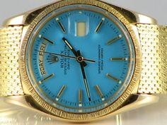 Crazy blue dial Rolex DayDate ref 1807, pretty rare!