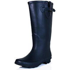 f5e5d7aff1f Best Rain Boots For Wide Calves  2. SPYLOVEBUY MEGAN Women s Wide Calf Knee  High Flat Welly Rain Boots