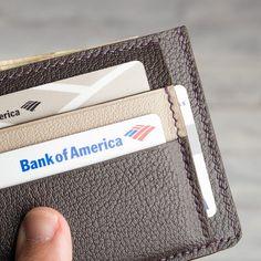 Leather Card Wallet Men's Slim Minimalist Compact | Etsy Mens Leather Accessories, Leather Card Wallet, Front Pocket Wallet, Painting Edges, Men's Leather, Slim Man, Compact, Minimalist, Hand Painted