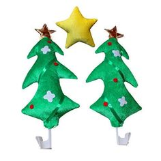 ed876decd0b5c Buy LUOEM Christmas Car Decoration Kit Party Supply Christmas Trees Yellow  Star Auto online