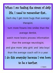 Why I'm a teacher...