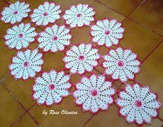 Tecendo Artes em Crochet: Caminho de Mesa Flores