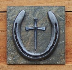 Horseshoe Nail Cross Wall Hanging by OutWestCreations4U on Etsy