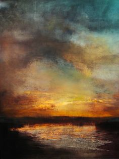 "Saatchi Art Artist Maurice Sapiro; Painting, ""Sunset, Reflected"" #art"