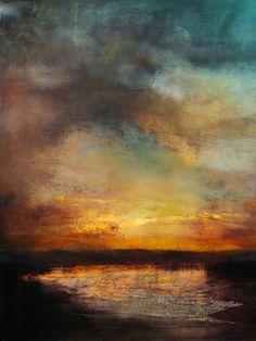 "Saatchi Art Artist Maurice Sapiro; Painting, ""Sunset, Reflected"" #art"