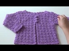 Crochet. Chaqueta paso a paso para niña - YouTube Diy And Crafts, Baby Kids, Lily, Sweaters, Ganesh, Videos, Youtube, Fashion, Infant Dresses