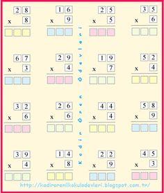 ilkokul ödevleri: 3. sınıf çarpma işlemi