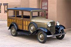 """1932 Ford Model B, 4-door Woody Station Wagon ~ Miks' Pics """"Era Automobiles l"""" board @ http://www.pinterest.com/msmgish/era-automobiles-l/"""