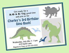 Dinosaur Birthday Invitation Printable by ThatPartyChick on Etsy, $15.00