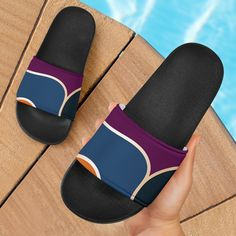 Stunning Colors Slide Sandals – This is iT Original Sporty Girls, Mens Slippers, Huaraches, Slide Sandals, Mens Fashion, Fashion Edgy, Open Toe, Slip On, Footwear