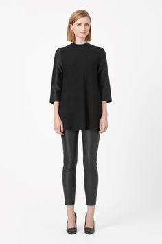 COS   Contrast sleeve jumper