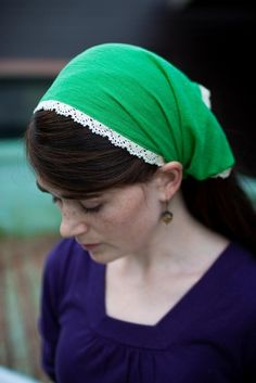 TRIMMED cotton headcovering hair head covering by GarlandsOfGrace, $18.00