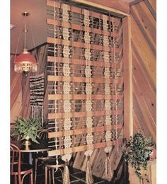 vintage 70's macrame patterns, room dividers, lampshade, window dressing, etc. #macrame