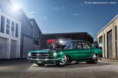 'LRC Mustang'  Custom Coupe Drag Car