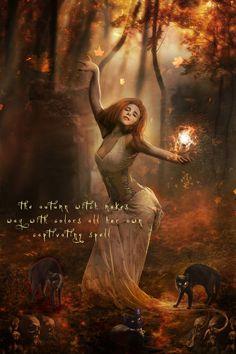 Autumn Witch by Phatpuppyart-Studios.deviantart.com on @deviantART