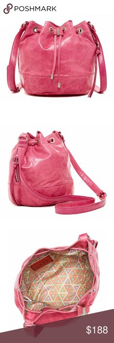Spotted while shopping on Poshmark: HOBO Pink Leather Bucket Bag! #poshmark #fashion #shopping #style #HOBO #Handbags